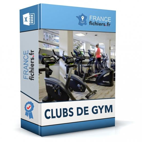 Fichier Clubs de gym France
