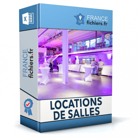 Fichier Locations de Salles France