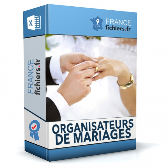Fichier organisateurs de mariages France