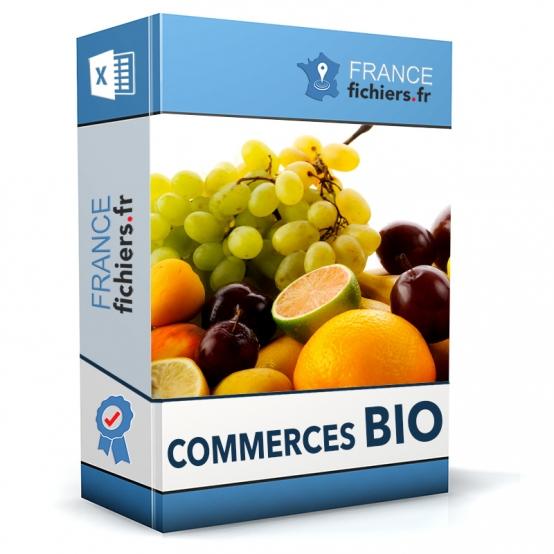 Fichier Commerces Bio France