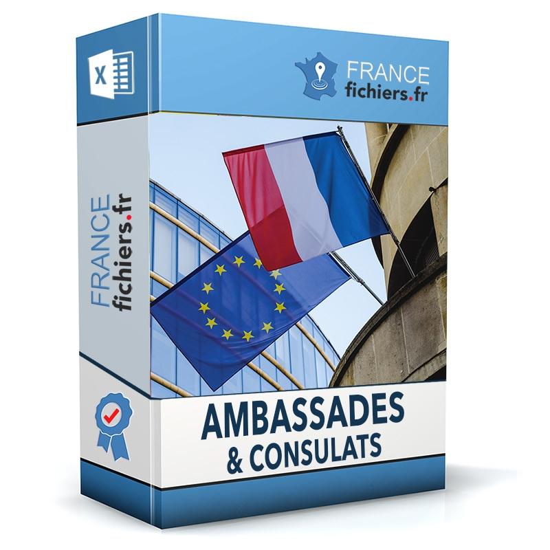 Fichier Ambassades et Consulats France