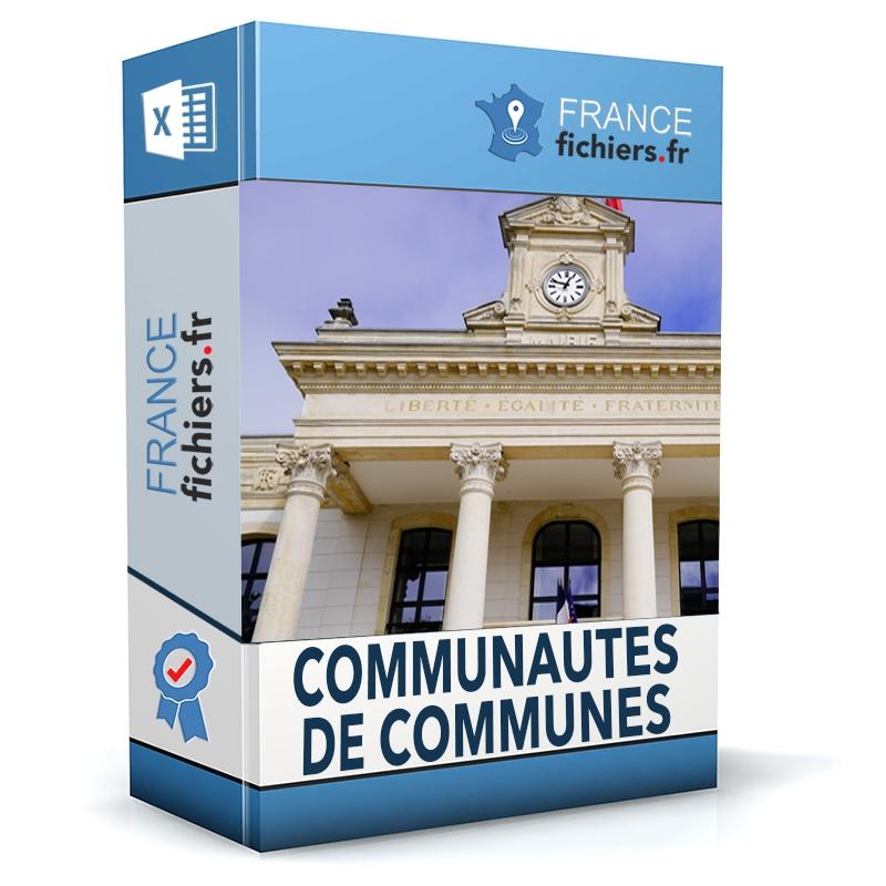 Fichier Communautés de Communes
