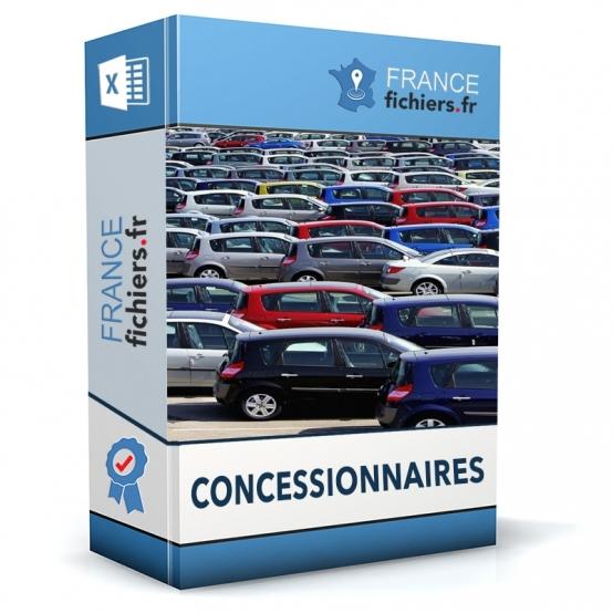 Fichier Concessionnaires France